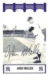 John Miller Autograph on a Yankees of the '60's Card