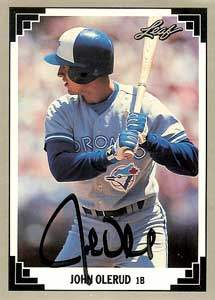 John Olerud Autograph on a 1991 Leaf (#125)