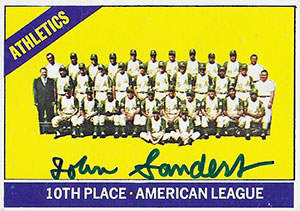 John Sanders Autograph on a1966 Topps Baseball Card (#492 | <a href='../baseball_cards/baseball_cards_oneset.php?s=1966top01' title='1966 Topps Baseball Card Checklist'>Checklist</a>)