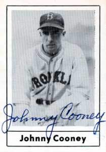 Johnny Cooney Autograph on a 1978 Grand Slamn (#163)
