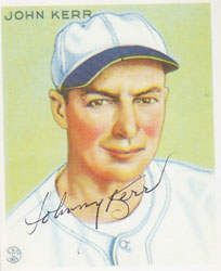 Johnny Kerr Autograph on a Goudey Reprint (#214)