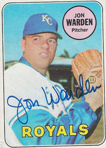 Jon 'Warbler' Warden Autograph on a 1969 Topps (#632 | <a href='../baseball_cards/baseball_cards_oneset.php?s=1969top01' title='1969 Topps Baseball Card Checklist'>Checklist</a>)