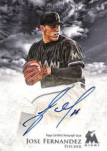 Jose Fernandez Autograph on a 2013 Bowman Inception Baseball Card (#JF)