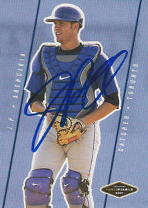 J.P. Arencibia Autograph on a 2007 Just Minors (#JF-05)