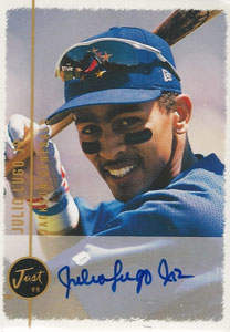 Julio Lugo Autograph on a 1999 Just Memorabilia (#n/a)
