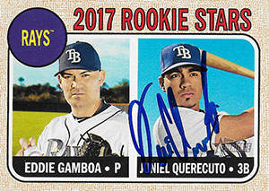 Juniel Querecuto Autograph on a 2017 Topps Baseball Card (#127)