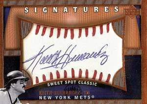 Keith Hernandez Autograph on a 2005 Upper Deck Sweet Spot Classic Baseball Card (#KH)