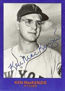 Ken MacKenzie Autograph on a 1982 Mets 20th Anniversary Card (#14)