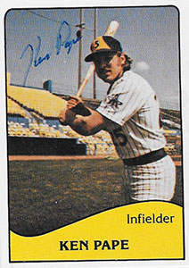 Ken Pape Autograph on a 1979 TCMA Baseball Card (#8)