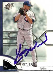 Kerry Wood Autograph on a 2002 Upper Deck (#57)