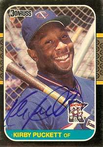 Kirby Puckett Autograph on a 1987 Donruss (#149)