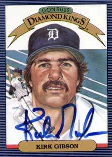 Kirk Gibson Autograph on a 1985 Donruss Diamond Kings (#1)