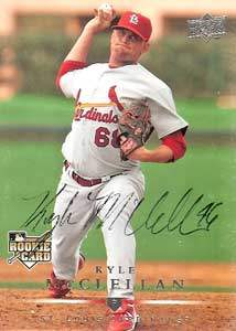 Kyle McClellan Autograph on a 2008 Upper Deck (#716)