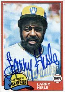 Larry Hisle Autograph on a 1981 Topps Baseball Card (#215 | <a href='../baseball_cards/baseball_cards_oneset.php?s=1981top03' title='1981 Topps Baseball Card Checklist'>Checklist</a>)