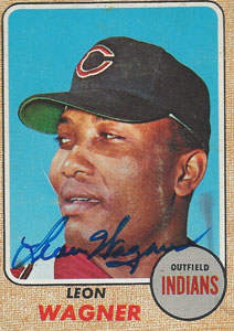 Leon 'Daddy Wags' Wagner Autograph on a 1968 Topps (#495 | <a href='../baseball_cards/baseball_cards_oneset.php?s=1968top01' title='1968 Topps Baseball Card Checklist'>Checklist</a>)