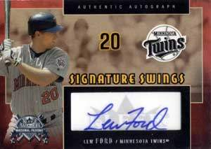 Lew Ford Autograph on a 2005 Fleer Signature Series