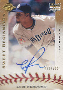 Luis Perdomo Autograph on a 2009 Sweet Spot (#120)