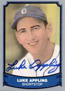 Luke Appling Autograph on a 1988 Pacific Legends Baseball Card (#4 | <a href='../baseball_cards/baseball_cards_oneset.php?s=1988pac01' title='1988 Pacific Legends Baseball Card Checklist'>Checklist</a>)