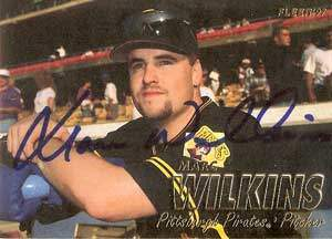 Marc Wilkins Autograph on a 1997 Fleer (#437)