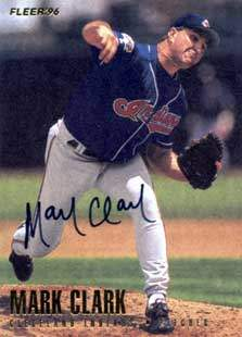 Mark Clark Autograph on a 1996 Fleer (#84)