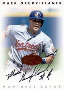 Mark Grudzielanek Autograph on a 1996 Leaf Signature Series (Bronze)