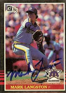 Mark Langston Autograph on a 1985 Donruss (#557)