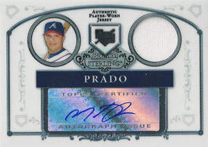 Martin Prado Autograph on a 2006 Bowman Sterling (#BS-MP)