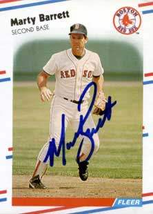 Marty Barrett Autograph on a 1988 Fleer (#343)