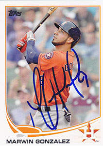 Marwin 'Margo' Gonzalez Autograph on a 2013 Topps Update Baseball Card