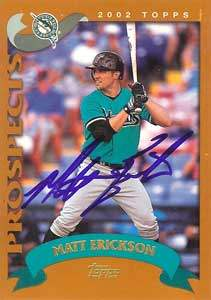 Matt Erickson Autograph on a 2002 Topps Prospects (#T207)