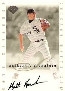 Matt Karchner Autograph on a 1996 Leaf Signature Series (Silver)