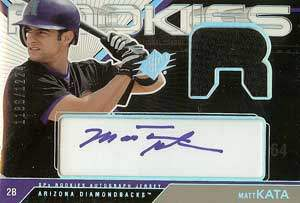 Matt Kata Autograph on a 2003 Upper Deck Rookies (#177)