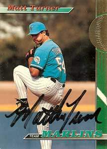 Matt Turner Autograph on a 1993 Topps Baseball Card (#27)