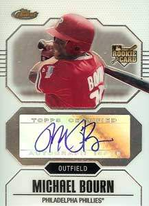 Michael Bourn Autograph on a 2007 Bowman Sterling (#155)