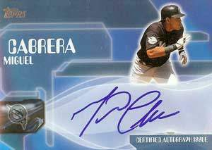 Miguel Cabrera Autograph on a 2004 Topps (#TA-MC)