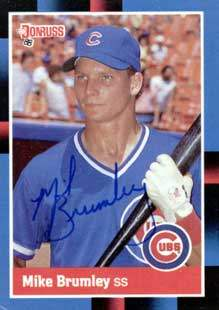 Mke Brumley Autograph on a 1988 Donruss (#609)