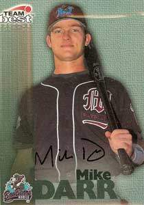 Mike Darr Autograph on a 1999 Team Best