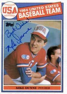 Mike Dunne Autograph on a 1985 Topps Baseball Card (#395 | <a href='../baseball_cards/baseball_cards_oneset.php?s=1985top06' title='1985 Topps Baseball Card Checklist'>Checklist</a>)