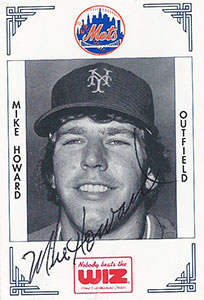 Mike Howard Autograph on a 1991 Wiz Mets Baseball Card (#189 | <a href='../baseball_cards/baseball_cards_oneset.php?s=1991wiz01' title='1991 Wiz Mets Baseball Card Checklist'>Checklist</a>)