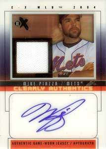 Mike Piazza Autograph on a 2004 Fleer Baseball Card (#CAS-MP)