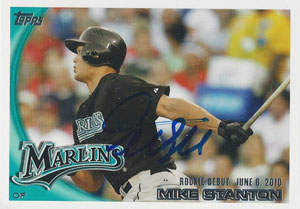 Giancarlo Stanton Autograph on a 2010 Topps (#US-327)