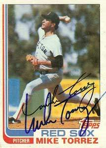Mike Torrez Autograph on a 1982 Topps (#225)