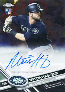 Mitch Haniger Autograph on a 2017 Topps Chrome Baseball Card (#RA-MH)