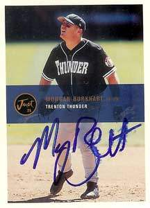 Morgan Burkhart Autograph on a 2000 Just Memorabilia (#13)