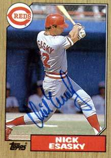 Nick Esasky Autograph on a 1987 Topps (#13)