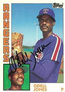 Odell Jones Autograph on a 1984 Topps (#734)