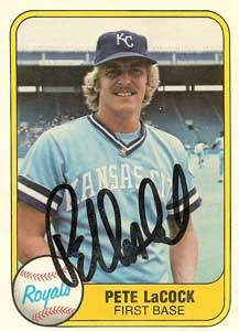 Pete LaCock Autograph on a 1981 Fleer (#47)