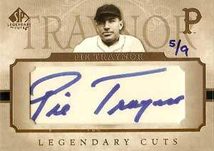 Pie Traynor Autograph on a 2005 Upper Deck Legendary Cuts (#LC-PT)