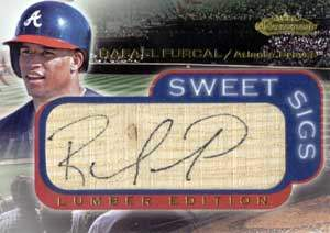 Rafael Furcal Autograph on a 2001 Fleer Showcase Baseball Card