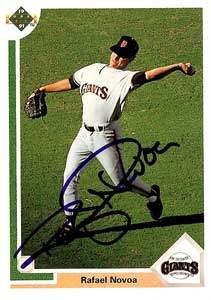 Rafael Novoa Autograph on a 1991 Upper Deck Baseball Card (#674 | <a href='../baseball_cards/baseball_cards_oneset.php?s=1991upp01' title='1991 Upper Deck Baseball Card Checklist'>Checklist</a>)